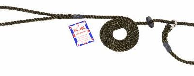 Slip lead three strand rope with rubber stop (6mm x 1.5m)