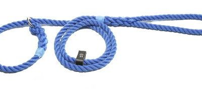Slip lead three strand rope with rubber stop (10mm x 1.5m)