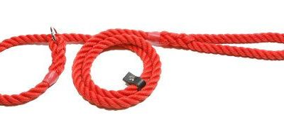 Slip lead three strand rope with rubber stop (12mm x 1.7m)