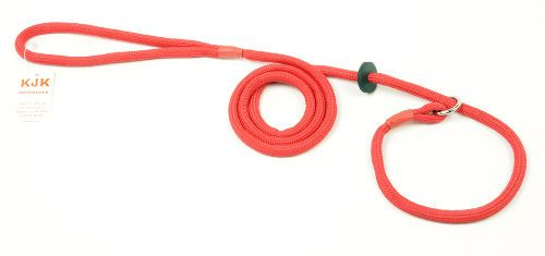 Slip lead braided rope with rubber stop (6mm x 1.5m)