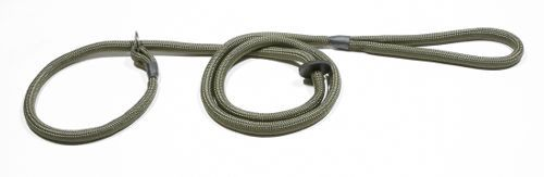 Slip lead braided rope with rubber stop (8mm x 1.5m)