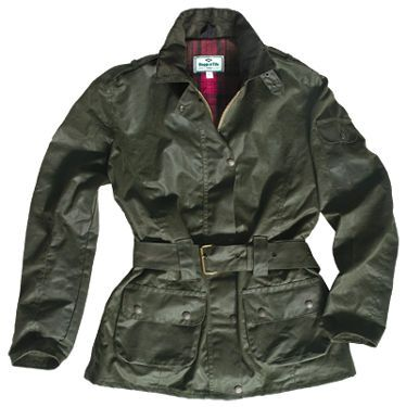 Cheltenham Ladies Belted Wax Jacket