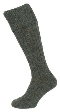 Country Cable Knit Stocking (Lovat) (H418)