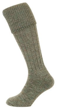 Country Ribbed Knit Stockings (Lovat) (H425)