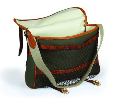 Canvas / Leather Game Bag Net Front Large
