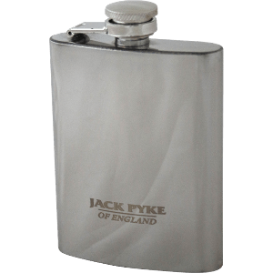 Jack Pyke Stainless Steel Hip Flask 4 Oz