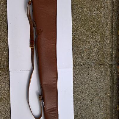 All Leather Shot Gunslip ( Flap – Buckle – Full Zip )